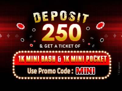 poker mini bash offer